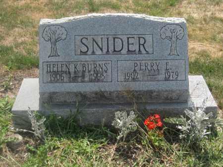 SNIDER, HELEN K. BURNS - Union County, Ohio | HELEN K. BURNS SNIDER - Ohio Gravestone Photos