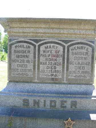 SNIDER, MARY - Union County, Ohio | MARY SNIDER - Ohio Gravestone Photos