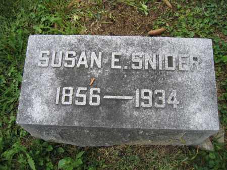 SNIDER, SUSAN E. - Union County, Ohio | SUSAN E. SNIDER - Ohio Gravestone Photos