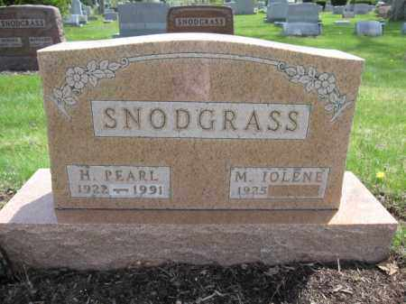SNODGRASS, H. PEARL - Union County, Ohio | H. PEARL SNODGRASS - Ohio Gravestone Photos