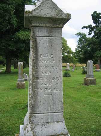 SNYDER, ELSIE - Union County, Ohio   ELSIE SNYDER - Ohio Gravestone Photos