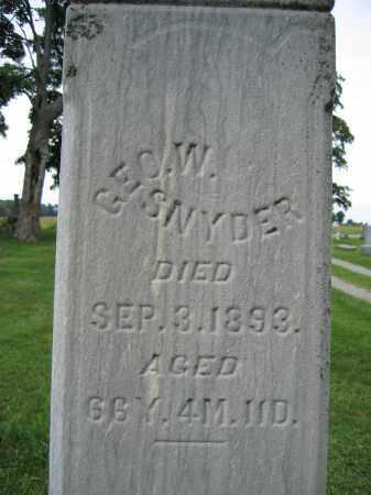 SNYDER, GEORGE W. - Union County, Ohio | GEORGE W. SNYDER - Ohio Gravestone Photos