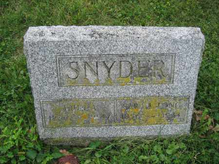 SNYDER, SARAH LONG - Union County, Ohio | SARAH LONG SNYDER - Ohio Gravestone Photos