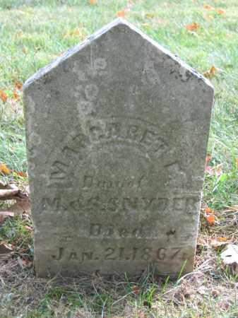 SNYDER, MARGARET E. - Union County, Ohio | MARGARET E. SNYDER - Ohio Gravestone Photos
