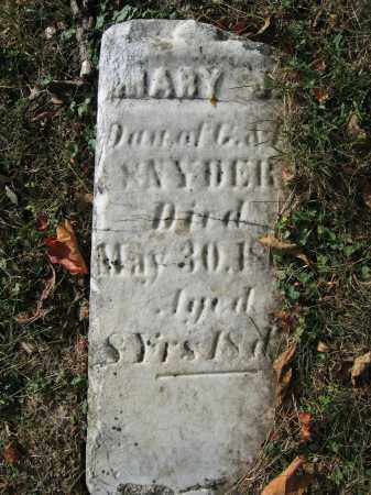 SNYDER, MARY J. - Union County, Ohio   MARY J. SNYDER - Ohio Gravestone Photos