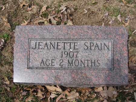 SPAIN, JEANETTE - Union County, Ohio | JEANETTE SPAIN - Ohio Gravestone Photos