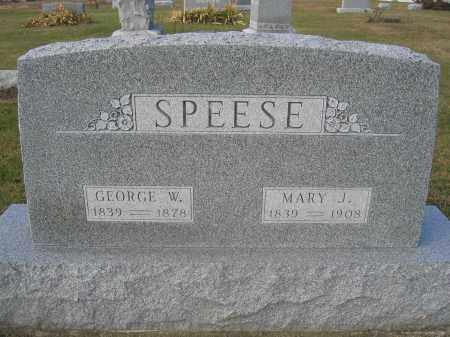 SPEESE, GEORGE W. - Union County, Ohio | GEORGE W. SPEESE - Ohio Gravestone Photos