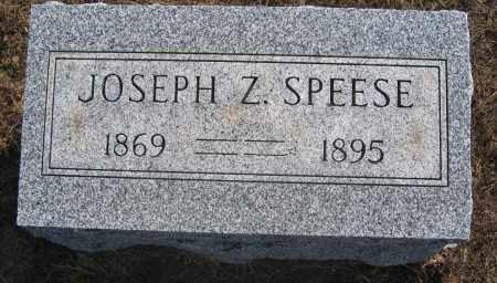 SPEESE, JOSEPH Z. - Union County, Ohio | JOSEPH Z. SPEESE - Ohio Gravestone Photos