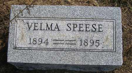 SPEESE, VELMA - Union County, Ohio | VELMA SPEESE - Ohio Gravestone Photos