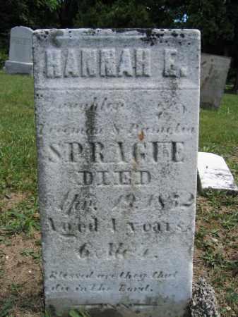 SPRAGUE, HANNAH E. - Union County, Ohio   HANNAH E. SPRAGUE - Ohio Gravestone Photos