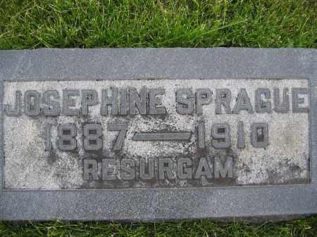 SPRAGUE, JOSEPHINE - Union County, Ohio   JOSEPHINE SPRAGUE - Ohio Gravestone Photos