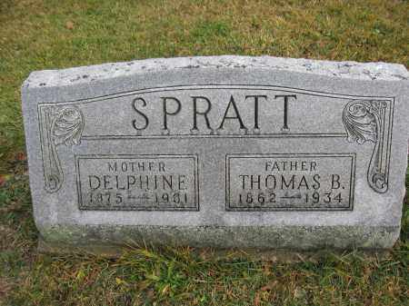 SPRATT, DELPHINE JENKINS - Union County, Ohio | DELPHINE JENKINS SPRATT - Ohio Gravestone Photos