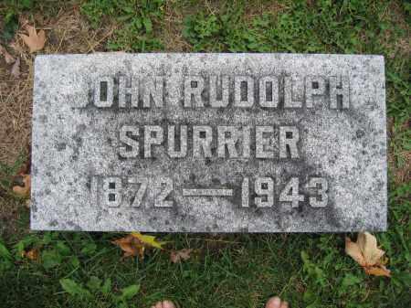 SPURRIER, JOHN RUDOLPH - Union County, Ohio | JOHN RUDOLPH SPURRIER - Ohio Gravestone Photos