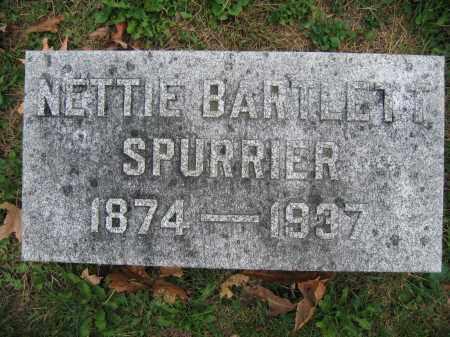 SPURRIER, NETTIE BARTLETT - Union County, Ohio | NETTIE BARTLETT SPURRIER - Ohio Gravestone Photos