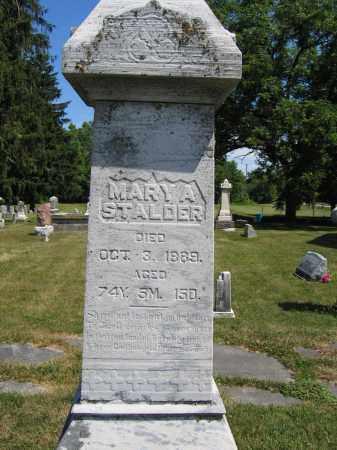 STALDER, MARY A. - Union County, Ohio | MARY A. STALDER - Ohio Gravestone Photos