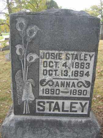 STALEY, JOSIE - Union County, Ohio   JOSIE STALEY - Ohio Gravestone Photos