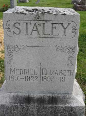 STALEY, ELIZABETH - Union County, Ohio | ELIZABETH STALEY - Ohio Gravestone Photos