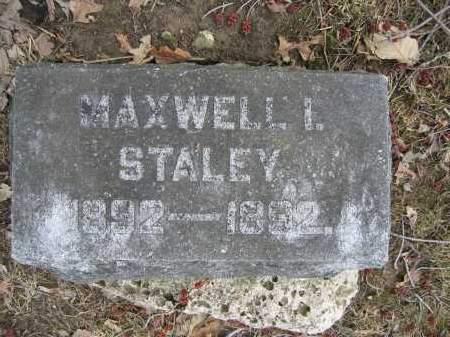 STALEY, MAXWELL I. - Union County, Ohio | MAXWELL I. STALEY - Ohio Gravestone Photos