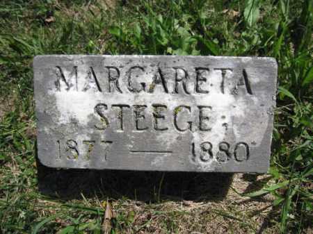 STEEGE, MARGARETA - Union County, Ohio | MARGARETA STEEGE - Ohio Gravestone Photos