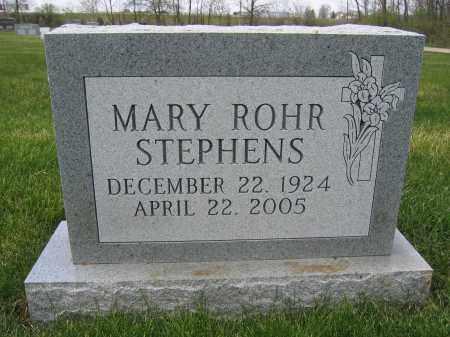 STEPHENS, MARY ROHR - Union County, Ohio | MARY ROHR STEPHENS - Ohio Gravestone Photos