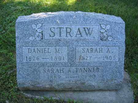 STRAW, DANIEL M. - Union County, Ohio | DANIEL M. STRAW - Ohio Gravestone Photos