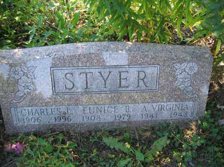 STYER, EUNICE B. - Union County, Ohio | EUNICE B. STYER - Ohio Gravestone Photos