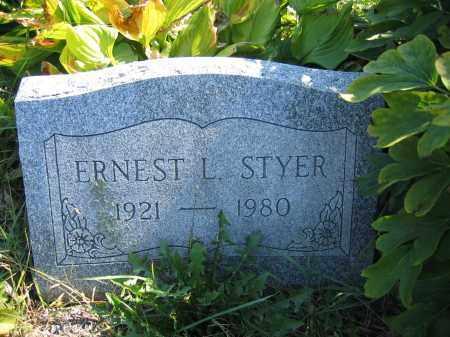 STYER, ERNEST L. - Union County, Ohio | ERNEST L. STYER - Ohio Gravestone Photos