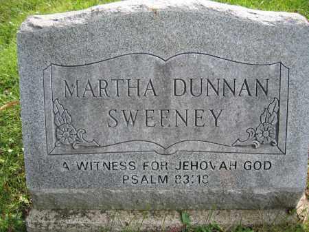 SWEENEY, MARTHA DUNNAN - Union County, Ohio   MARTHA DUNNAN SWEENEY - Ohio Gravestone Photos