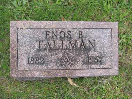 TALLMAN, ENOS B. - Union County, Ohio | ENOS B. TALLMAN - Ohio Gravestone Photos