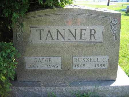 TANNER, SADIE - Union County, Ohio   SADIE TANNER - Ohio Gravestone Photos