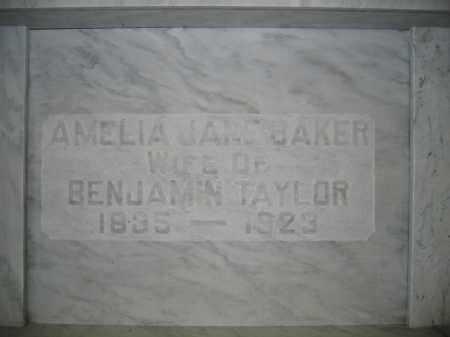TAYLOR, AMELIA JANE BAKER - Union County, Ohio | AMELIA JANE BAKER TAYLOR - Ohio Gravestone Photos