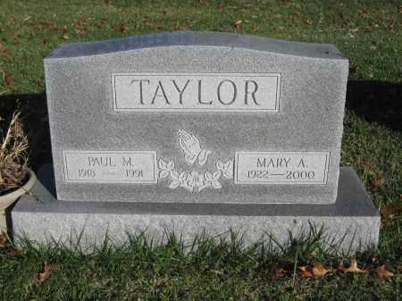 TAYLOR, MARY A. - Union County, Ohio   MARY A. TAYLOR - Ohio Gravestone Photos