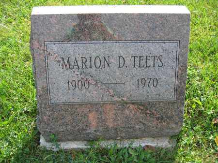 TEETS, MARION D. - Union County, Ohio | MARION D. TEETS - Ohio Gravestone Photos