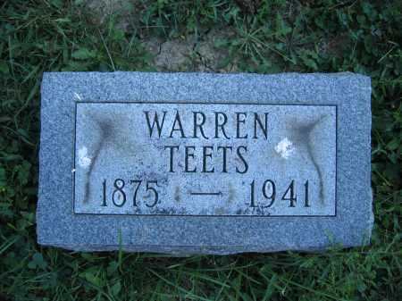 TEETS, WARREN - Union County, Ohio | WARREN TEETS - Ohio Gravestone Photos