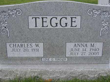 TEGGE, ANNA M. - Union County, Ohio | ANNA M. TEGGE - Ohio Gravestone Photos