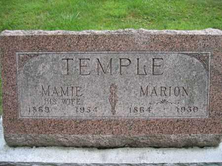 TEMPLE, MARION - Union County, Ohio | MARION TEMPLE - Ohio Gravestone Photos