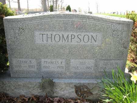 THOMPSON, TED - Union County, Ohio | TED THOMPSON - Ohio Gravestone Photos