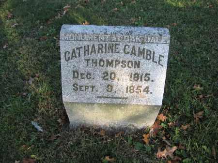 THOMPSON, CATHARINE GAMBLE - Union County, Ohio | CATHARINE GAMBLE THOMPSON - Ohio Gravestone Photos