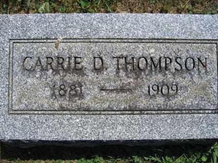 THOMPSON, CARRIE D. - Union County, Ohio   CARRIE D. THOMPSON - Ohio Gravestone Photos