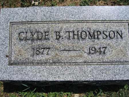 THOMPSON, CLYDE B. - Union County, Ohio | CLYDE B. THOMPSON - Ohio Gravestone Photos