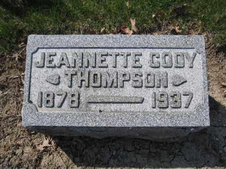 THOMPSON, JEANNETTE CODY - Union County, Ohio   JEANNETTE CODY THOMPSON - Ohio Gravestone Photos