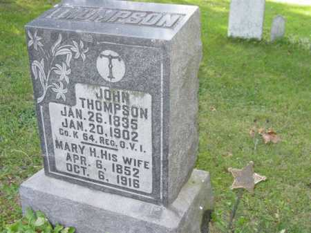 THOMPSON, MARY H - Union County, Ohio | MARY H THOMPSON - Ohio Gravestone Photos