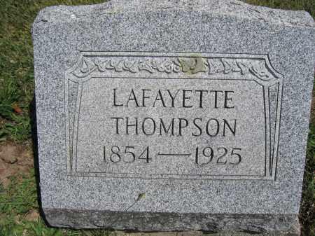 THOMPSON, LAFAYETTE - Union County, Ohio   LAFAYETTE THOMPSON - Ohio Gravestone Photos