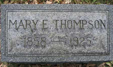 THOMPSON, MARY E. - Union County, Ohio | MARY E. THOMPSON - Ohio Gravestone Photos