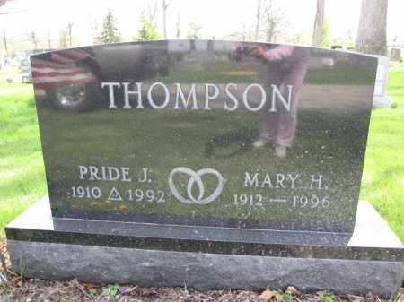 THOMPSON, PRIDE J. - Union County, Ohio | PRIDE J. THOMPSON - Ohio Gravestone Photos