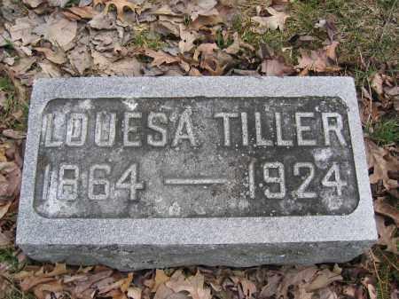 TILLER, LOUESA - Union County, Ohio | LOUESA TILLER - Ohio Gravestone Photos