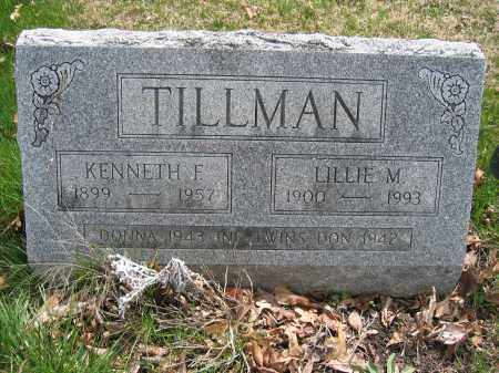 TILLMAN, KENNETH F. - Union County, Ohio | KENNETH F. TILLMAN - Ohio Gravestone Photos