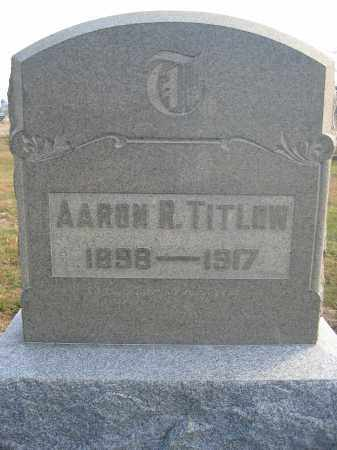 TITLOW, AARON R. - Union County, Ohio | AARON R. TITLOW - Ohio Gravestone Photos