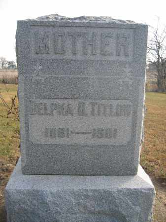 TITLOW, DELPHA - Union County, Ohio | DELPHA TITLOW - Ohio Gravestone Photos