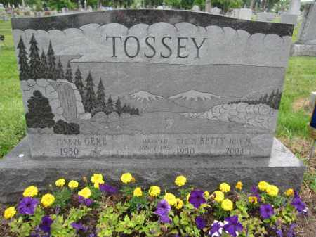 TOSSEY, BETTY - Union County, Ohio | BETTY TOSSEY - Ohio Gravestone Photos